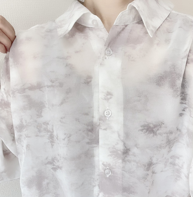 しまむら シアーシャツ透け感