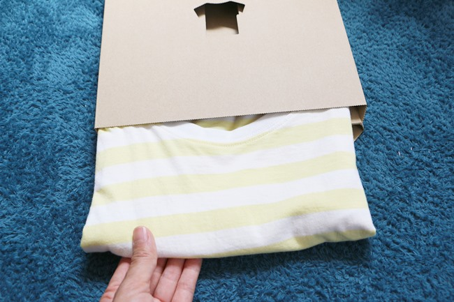 実際にTシャツを畳んでみた♪