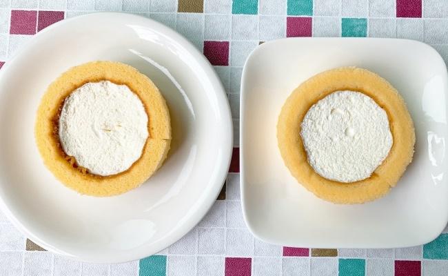 ローソン プレミアムロールケーキ新旧比較