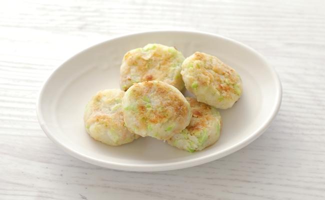 【離乳食後期】枝豆ツナのお焼き