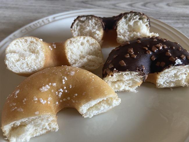 業務スーパー ドーナツシュガーコーティング ドーナツチョココーティング
