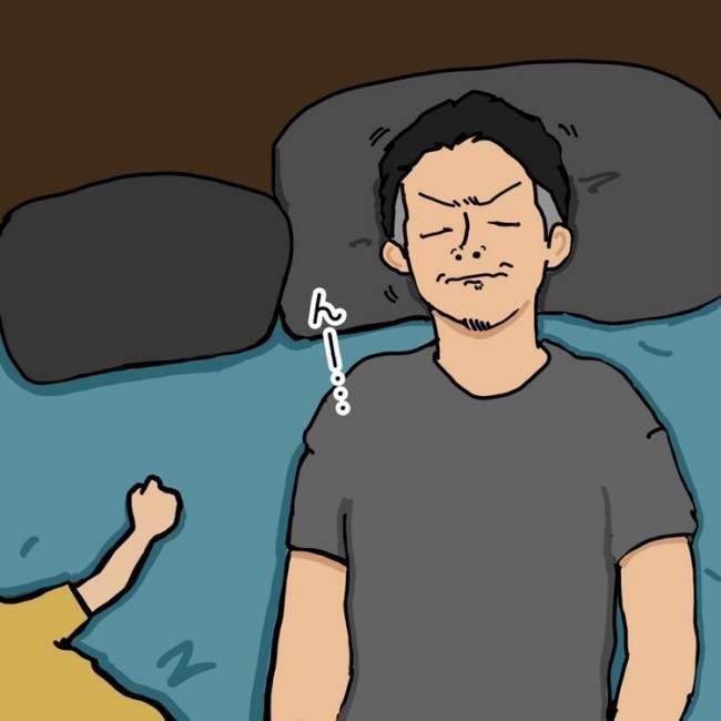 寝かしつけ