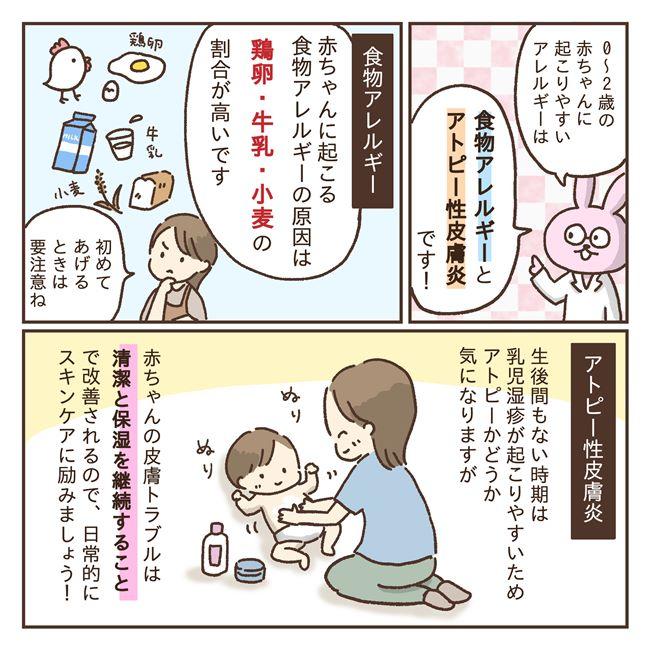 0〜2歳の赤ちゃんに起こりやすいアレルギーは?予防のためにできること