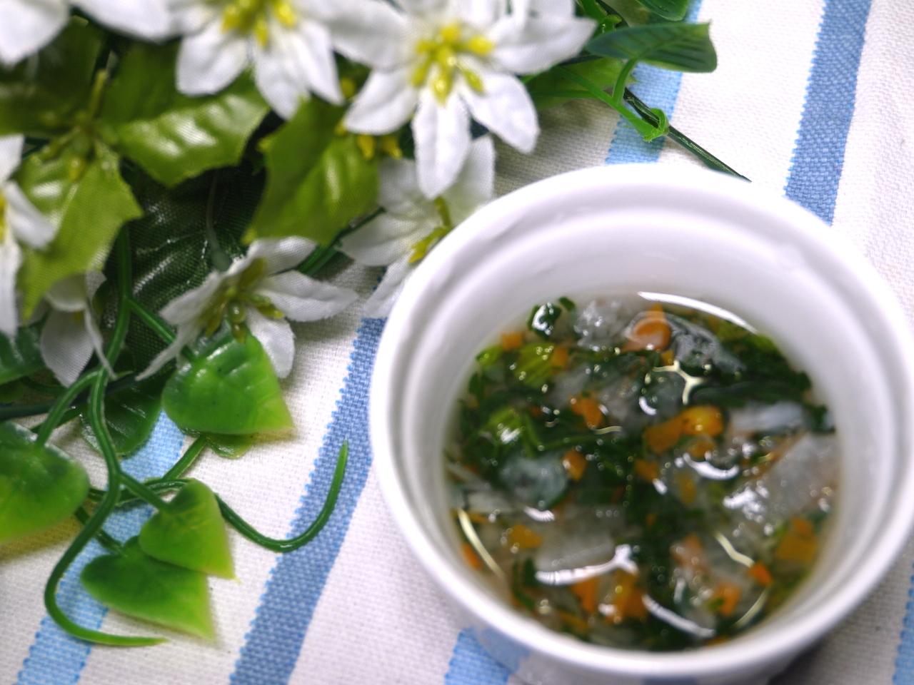 離乳食中期 にんじん大根小松菜のスープ