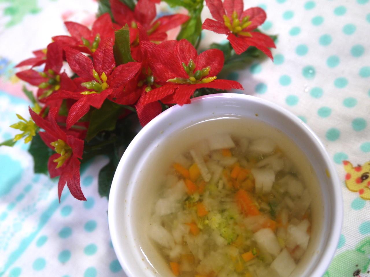 離乳食中期 大根とブロッコリーのスープ
