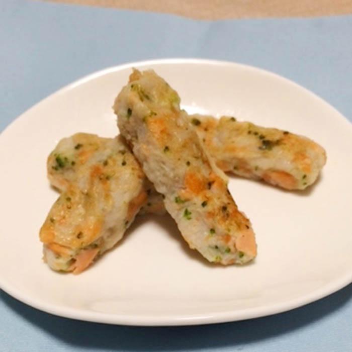 【離乳食後期】里芋と鮭のスティックおやき