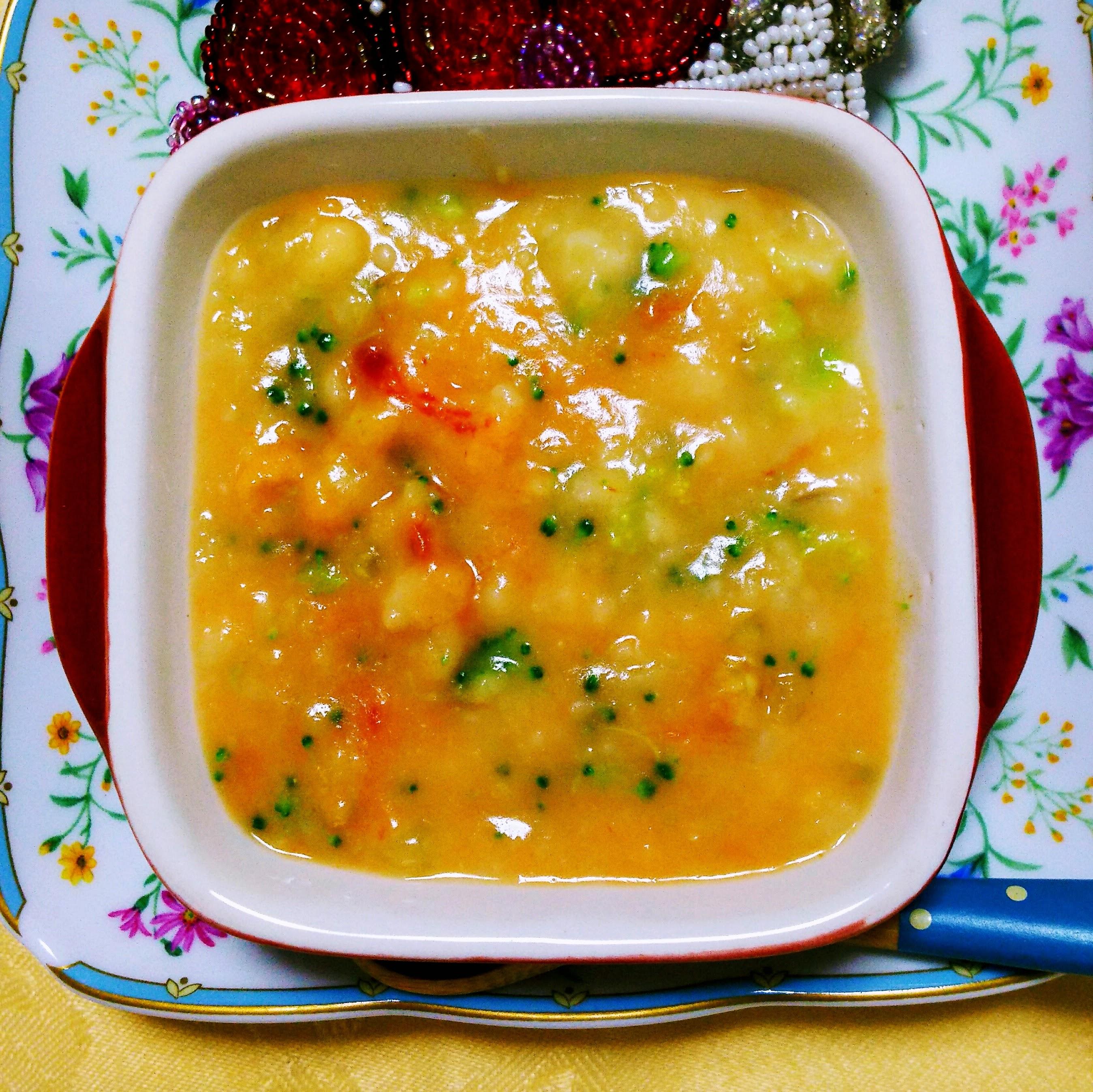 【離乳食後期】白身魚と野菜のお麸グラタン