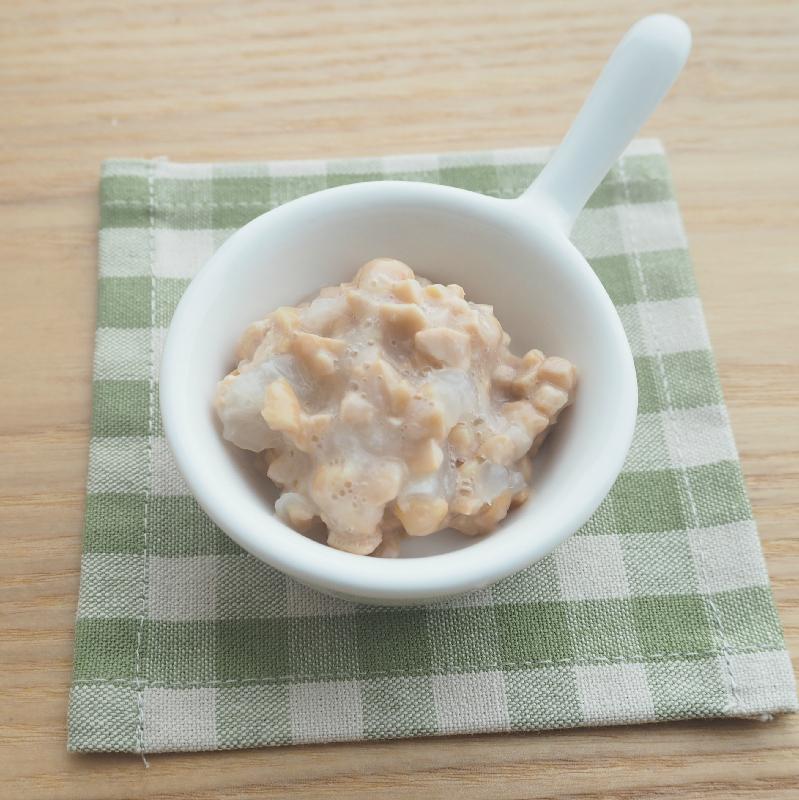 【離乳食中期】おろし納豆