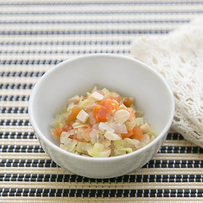 【離乳食後期】大豆のトマト煮
