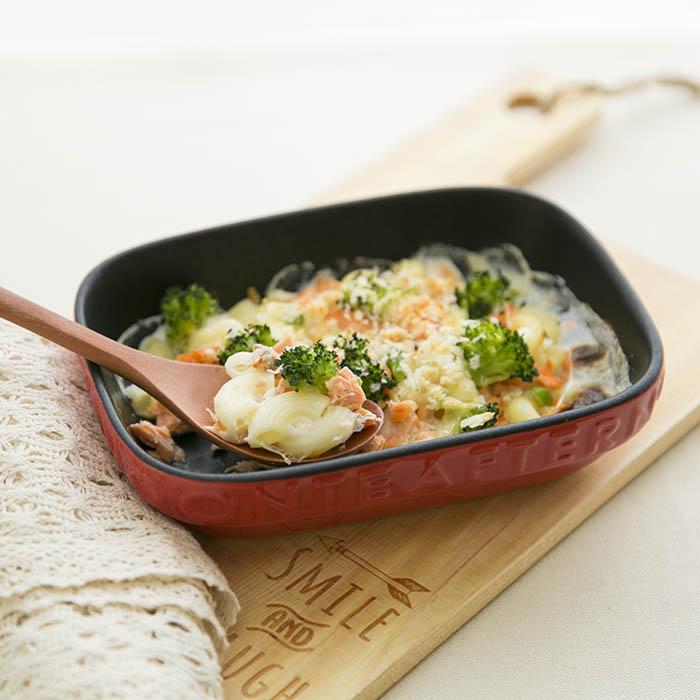 【離乳食完了期】鮭とブロッコリーのマカロニグラタン