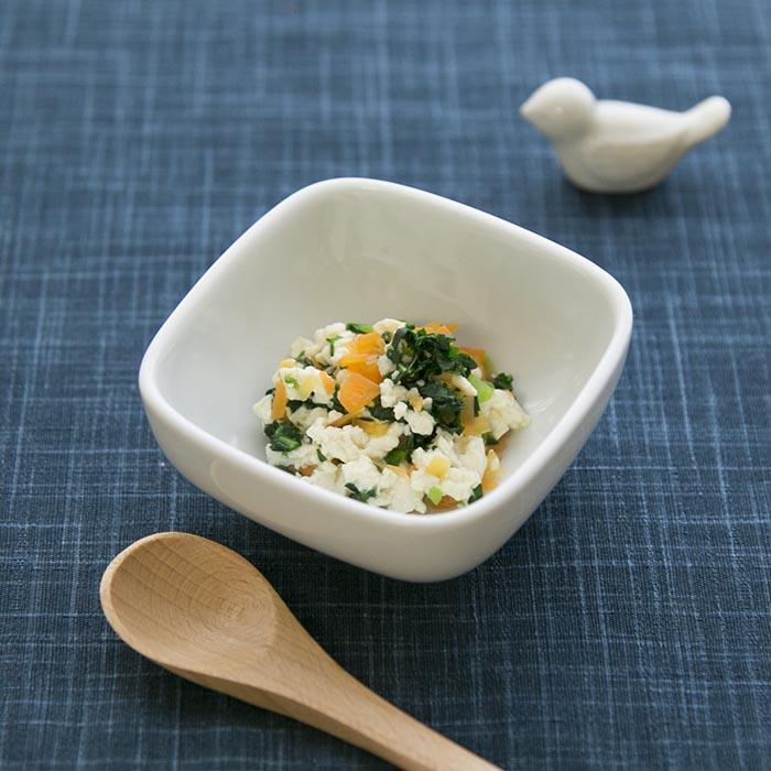 【離乳食中期】小松菜の白和え