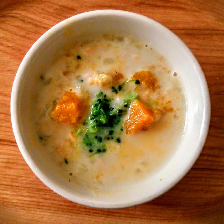 【離乳食後期】かほちゃとカリフラワーのスープ