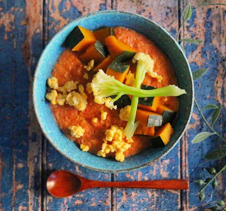【離乳食完了期】金時人参と野菜のオートミール粥