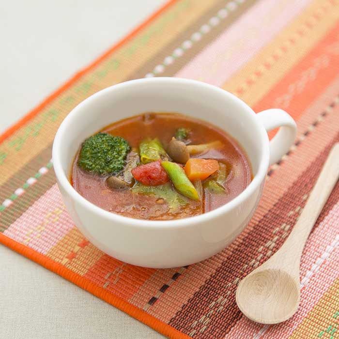 春キャベツのトマトスープ