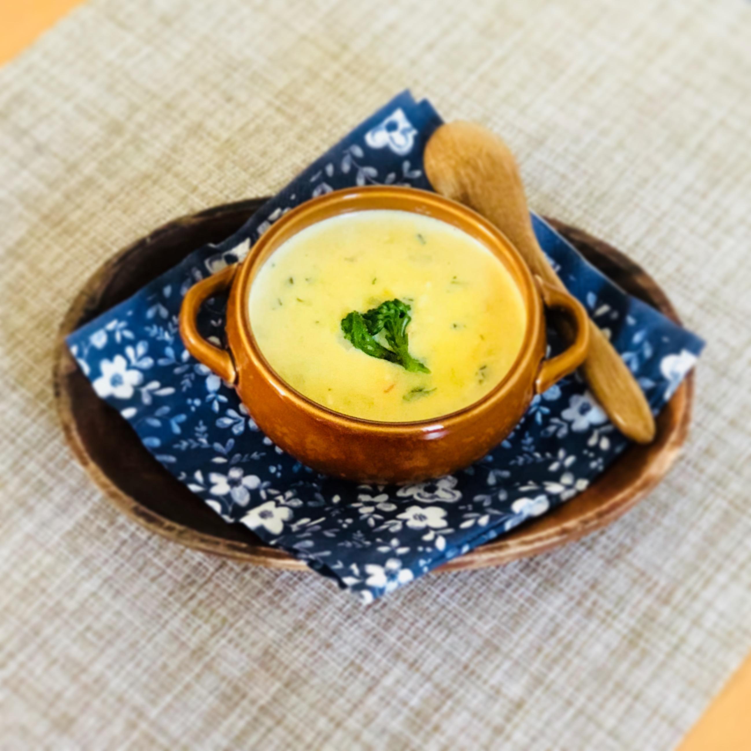 【離乳食後期】鶏ささみと野菜の豆乳コーンスープ