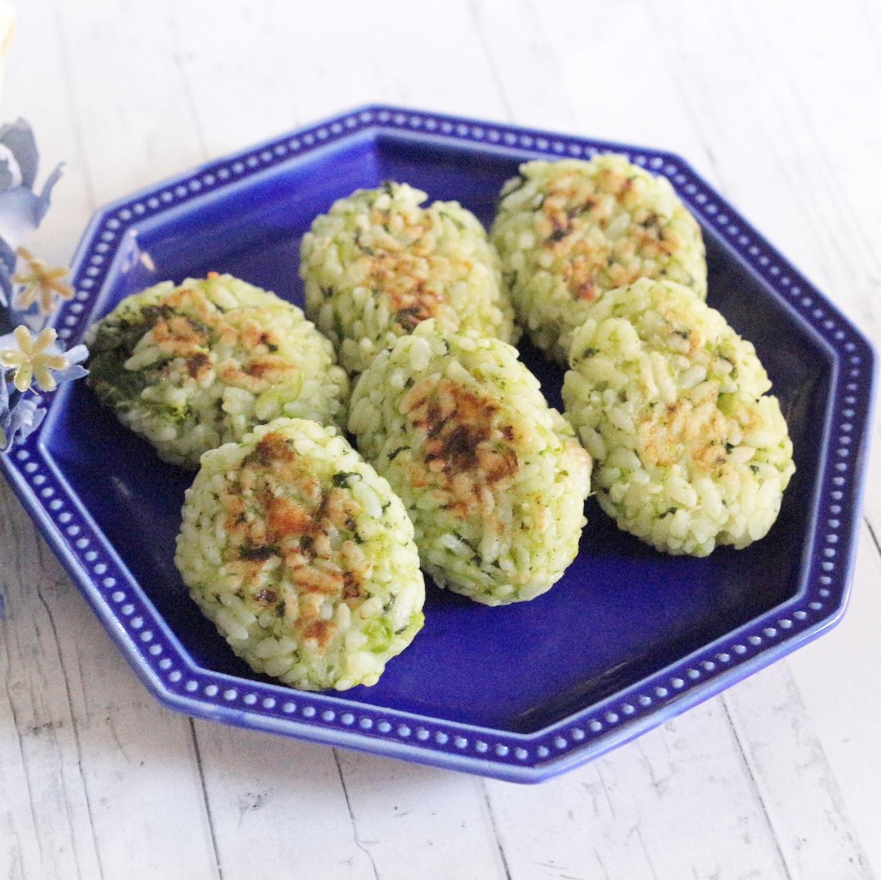 【離乳食完了期】菜の花とたいのおやき
