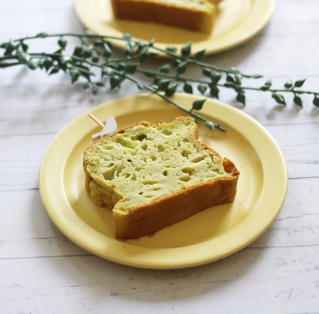 【離乳食完了期】小松菜とりんごのケーキ