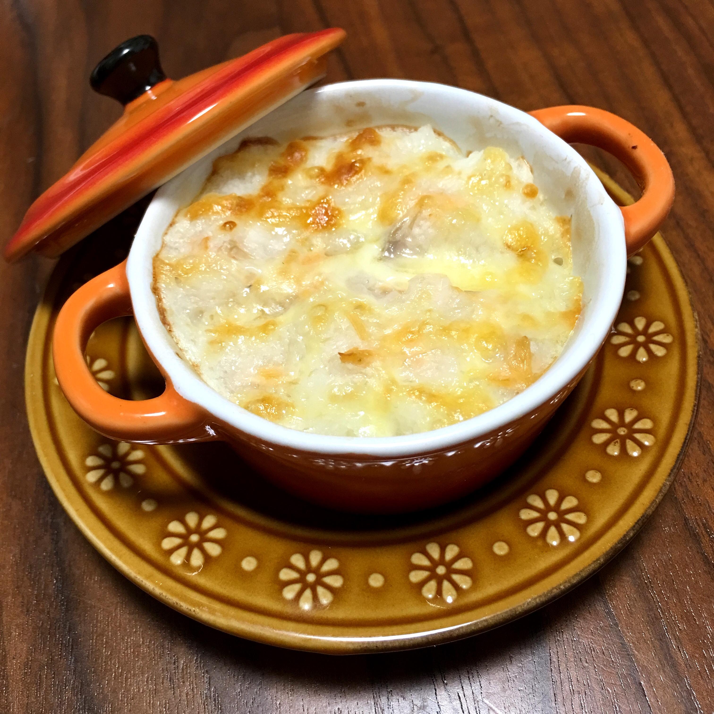 【離乳食後期】長芋と鮭のグラタン