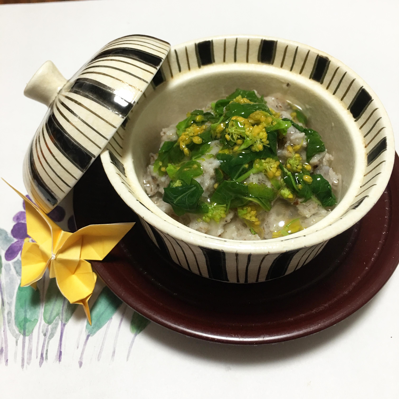 【離乳食後期】石鯛の蓮蒸し 菜の花あん