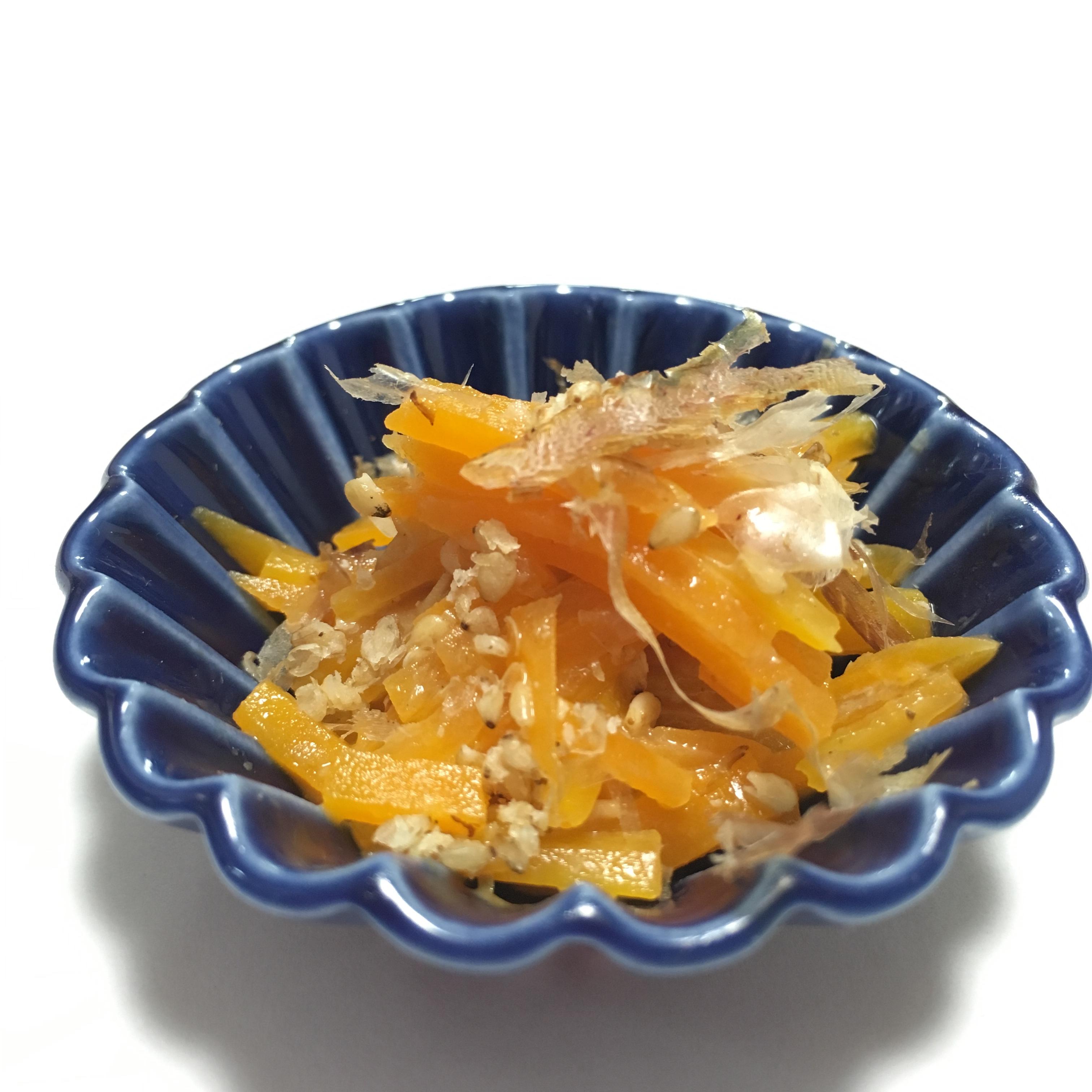 【離乳食後期】にんじんのおかかマヨサラダ