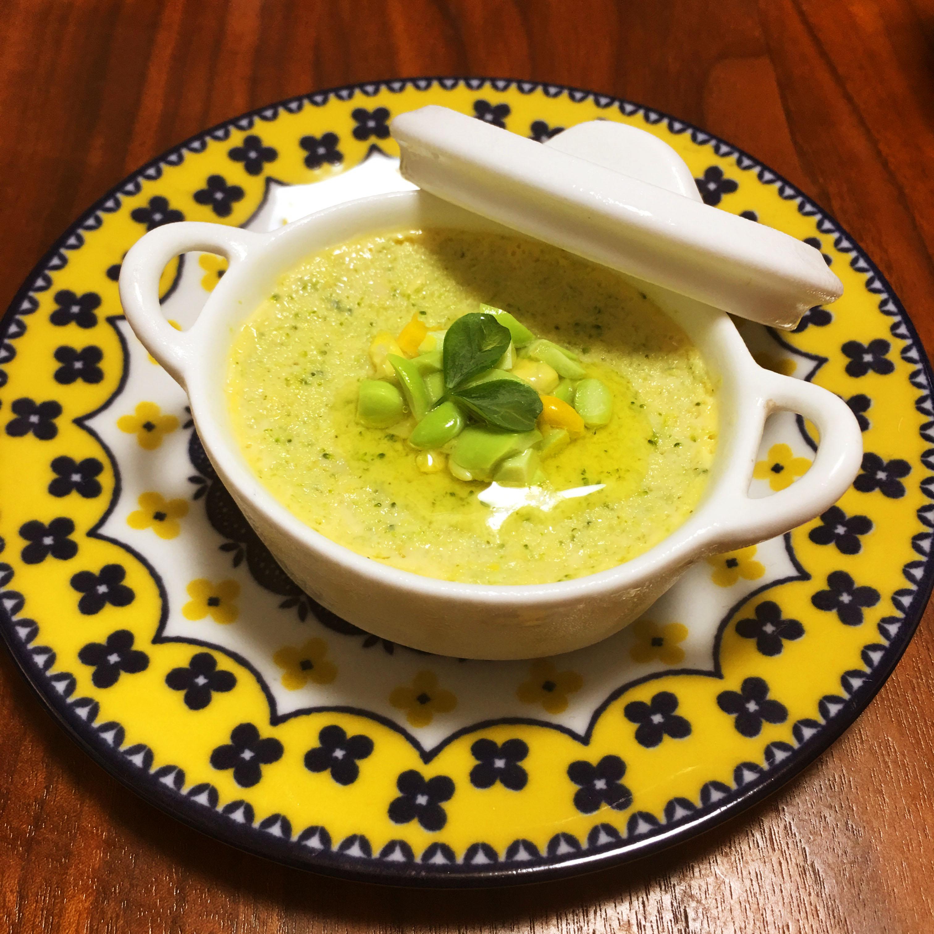 【離乳食後期】ブロッコリーと枝豆、とうもろこしの和風フラン