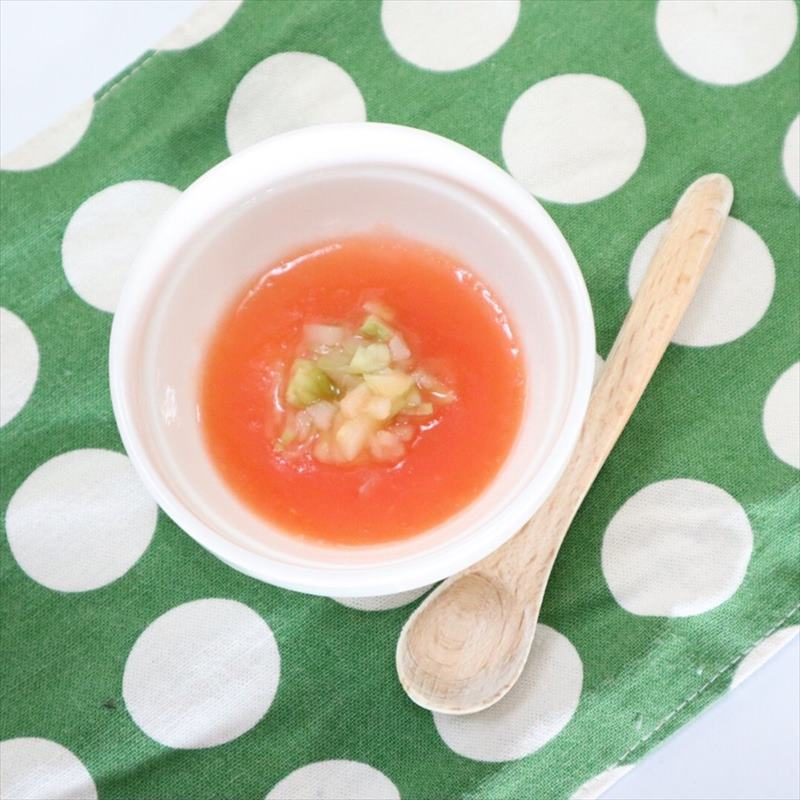 【離乳食中期】アスパラトマト