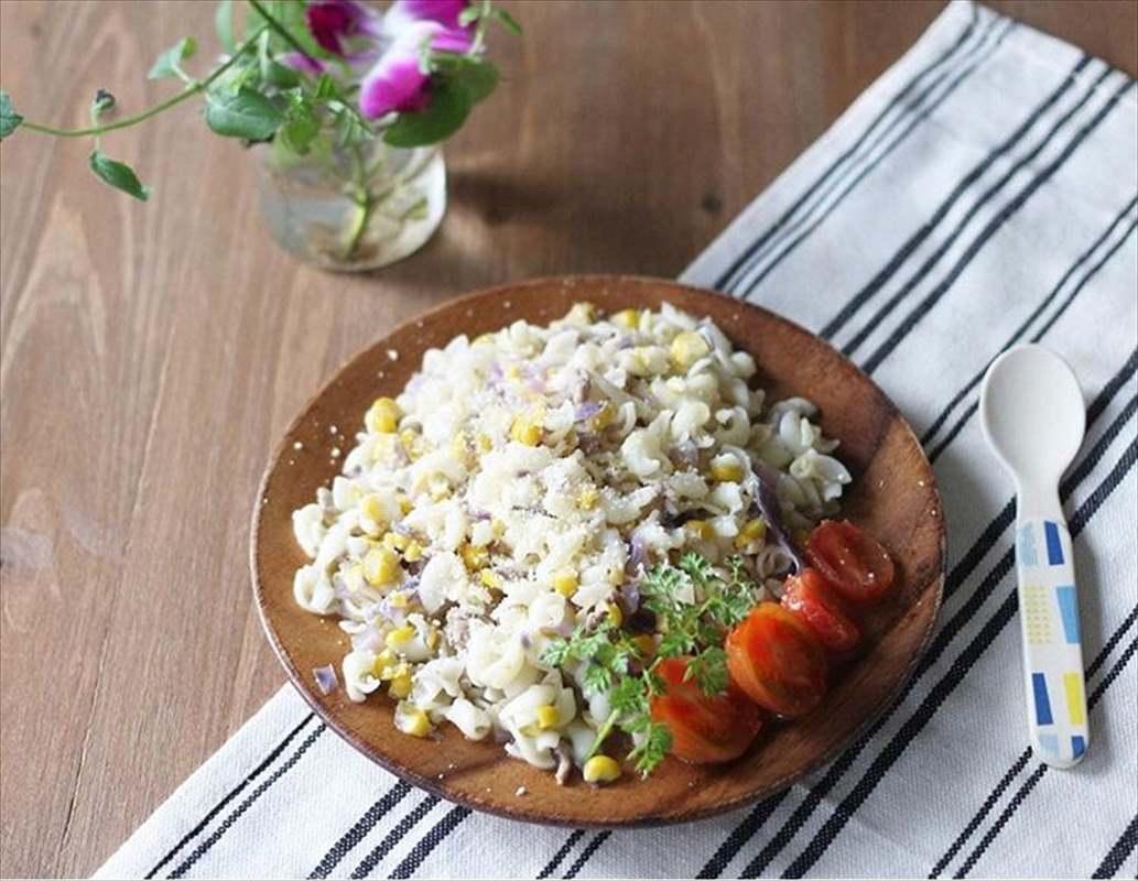 【離乳食完了期】豚肉とトウモロコシのラグーパスタ