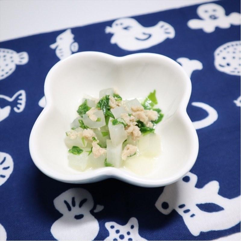【離乳食後期】大根とまぐろと水菜の煮物