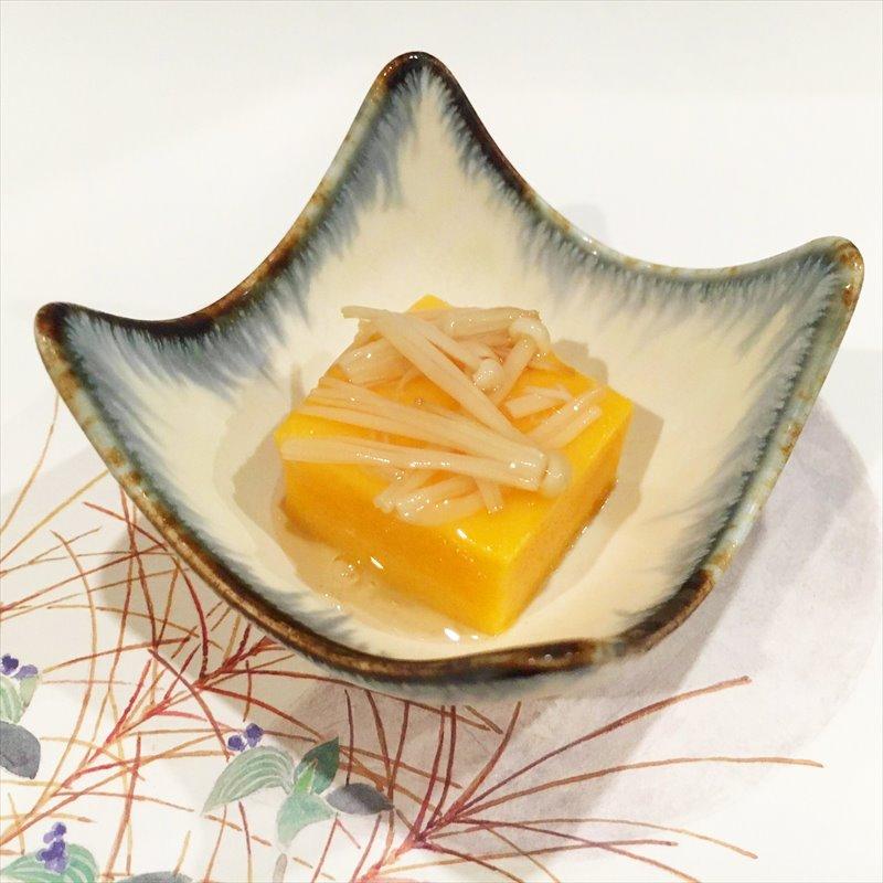 【離乳食後期】かぼちゃ豆腐 えのきあんかけ