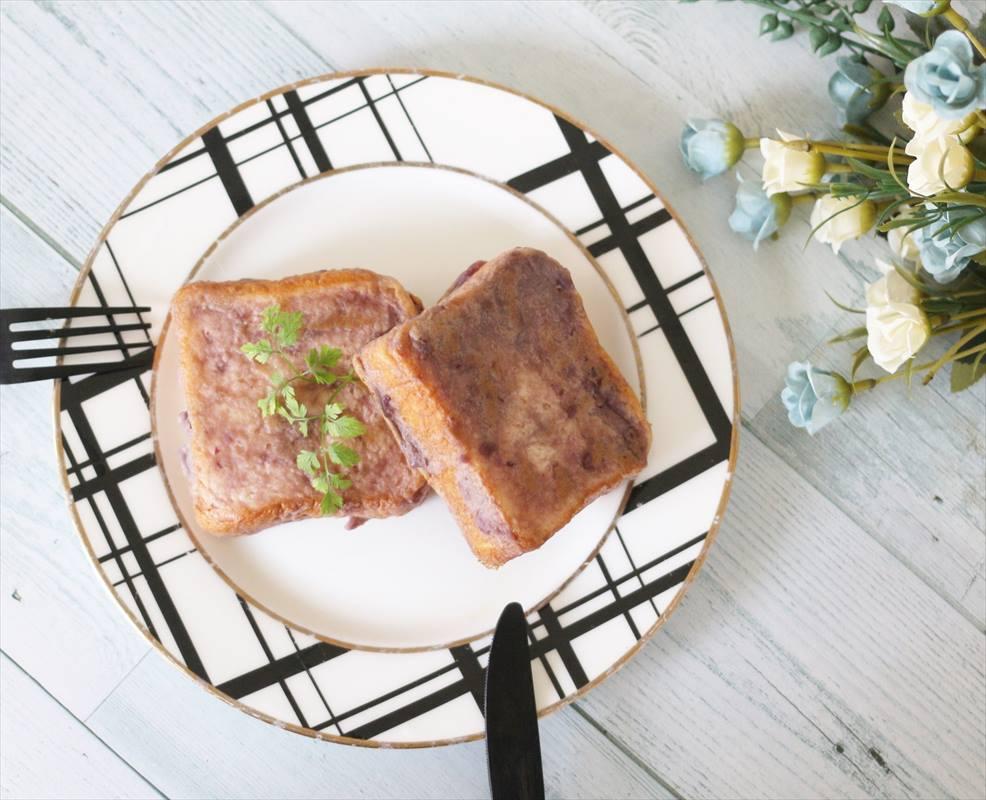 【離乳食後期】紫芋のフレンチトースト