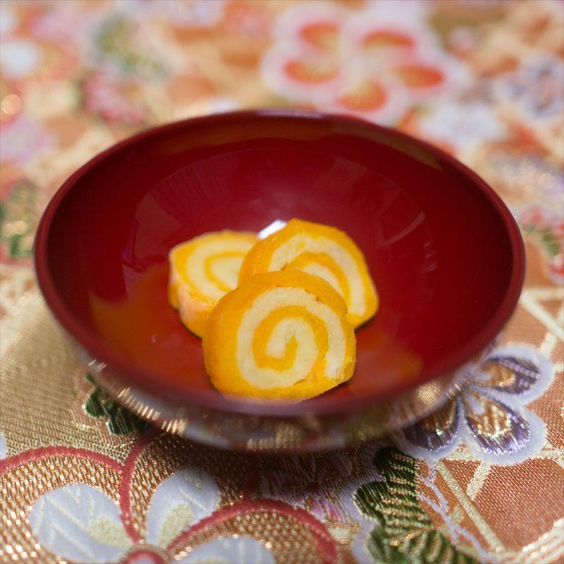 【離乳食中期】さつまいもとかぼちゃの伊達巻風