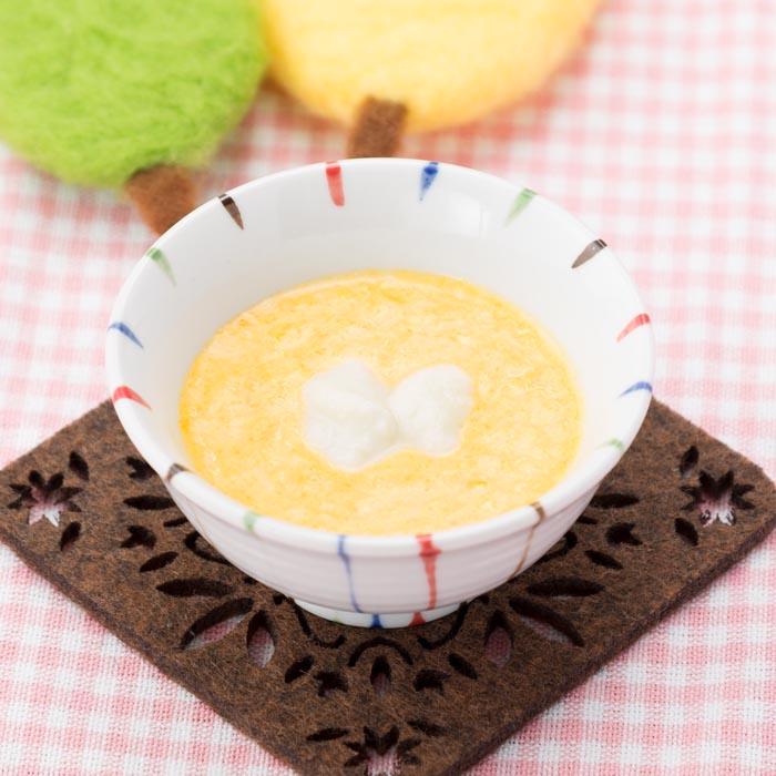 【離乳食初期】かぼちゃのミルクパンがゆ