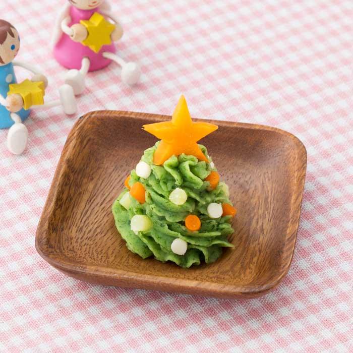 【離乳食完了期】パクっとクリスマスツリー