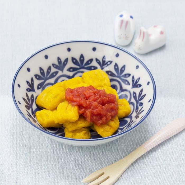 【離乳食後期】かぼちゃのニョッキ トマトソース