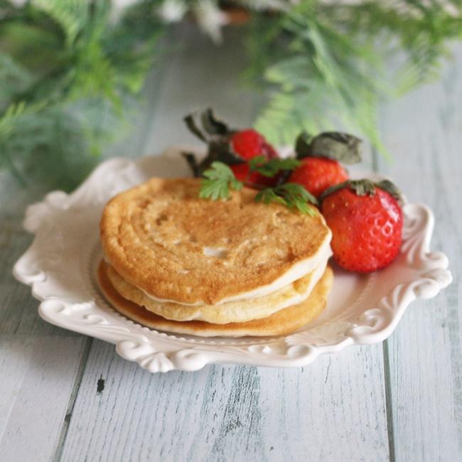 【離乳食後期】ばななみるくパンケーキ