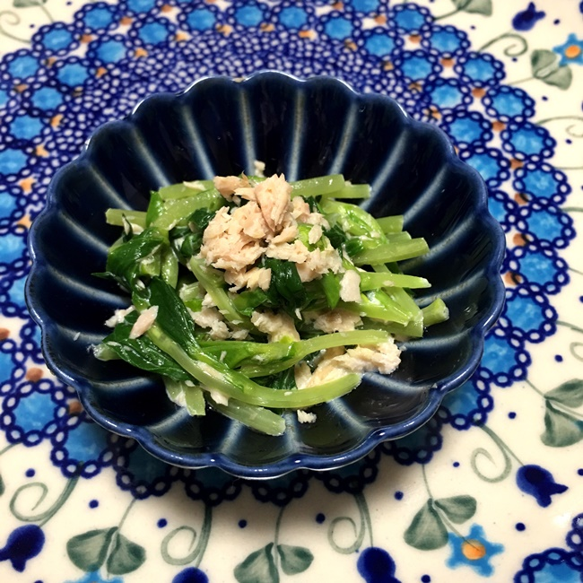 【離乳食後期】豆苗とツナのマヨネーズサラダ