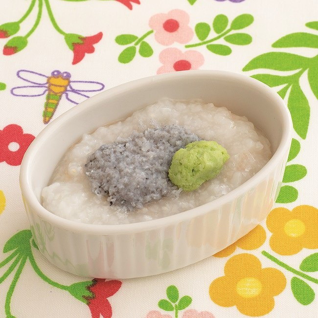 【離乳食初期】しらすと枝豆のおかゆ