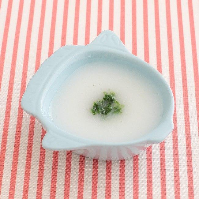 【離乳食初期】小松菜のおかゆ
