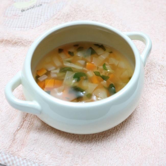 【離乳食後期】簡単ミネストローネ風スープ