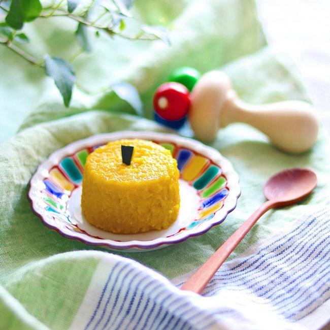 【離乳食後期】かぼちゃのミルクプリン