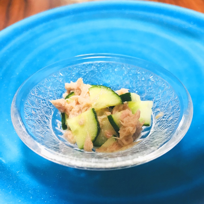 【離乳食後期】ツナきゅうりサラダ