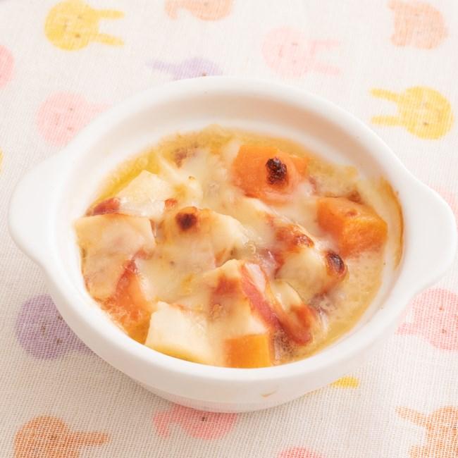 【離乳食】里いものトマト風味グラタン