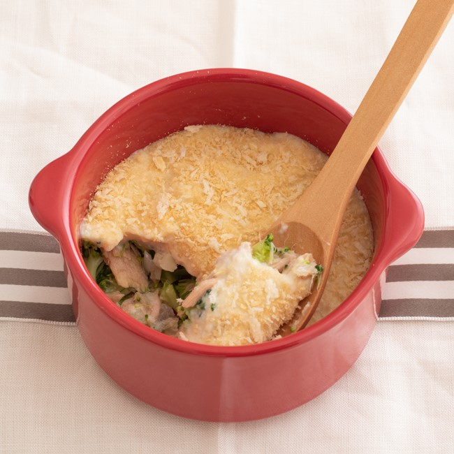 【離乳食後期】豆腐グラタン