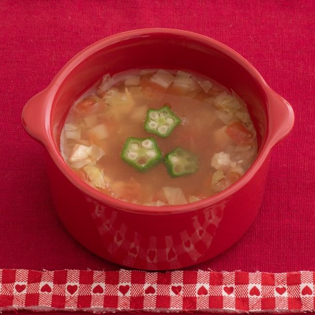 【離乳食完了期】トマトの具だくさんスープ