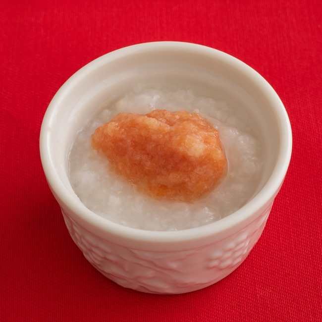 【離乳食初期】トマトと麩のおかゆ