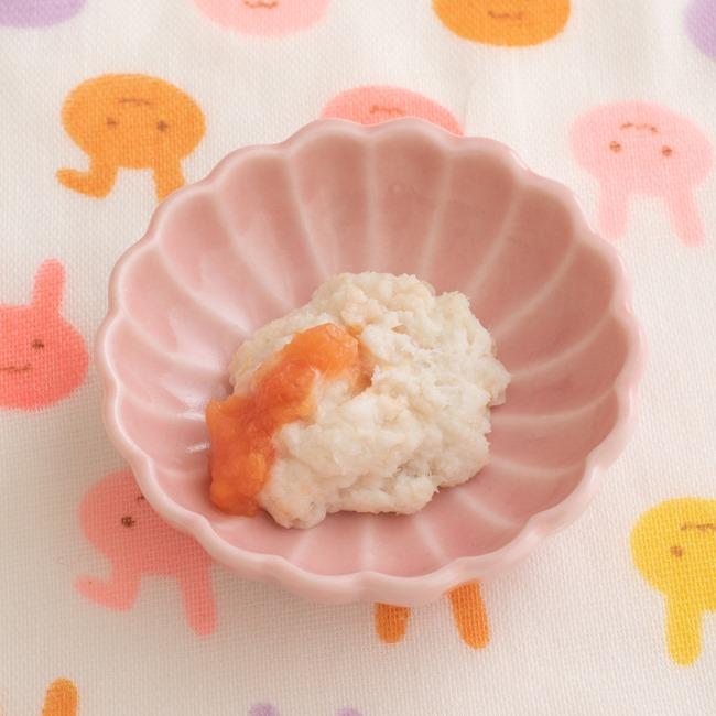 【離乳食初期】白身魚のトマト和え