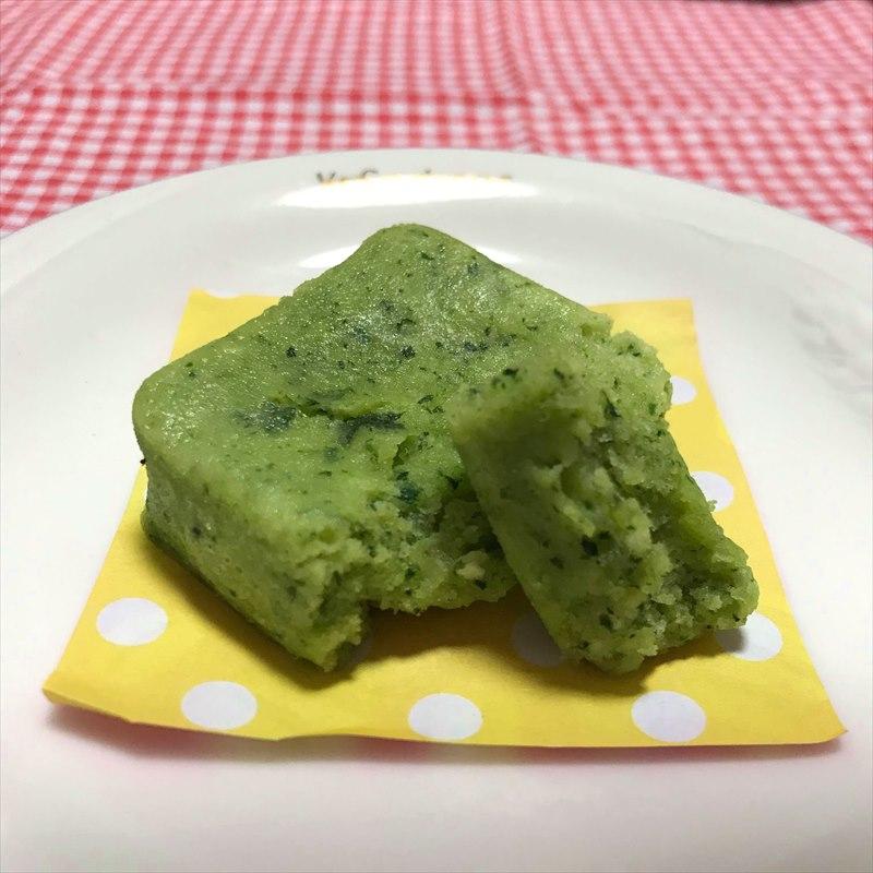 【離乳食完了期】小松菜バナナのレンジ蒸しパン