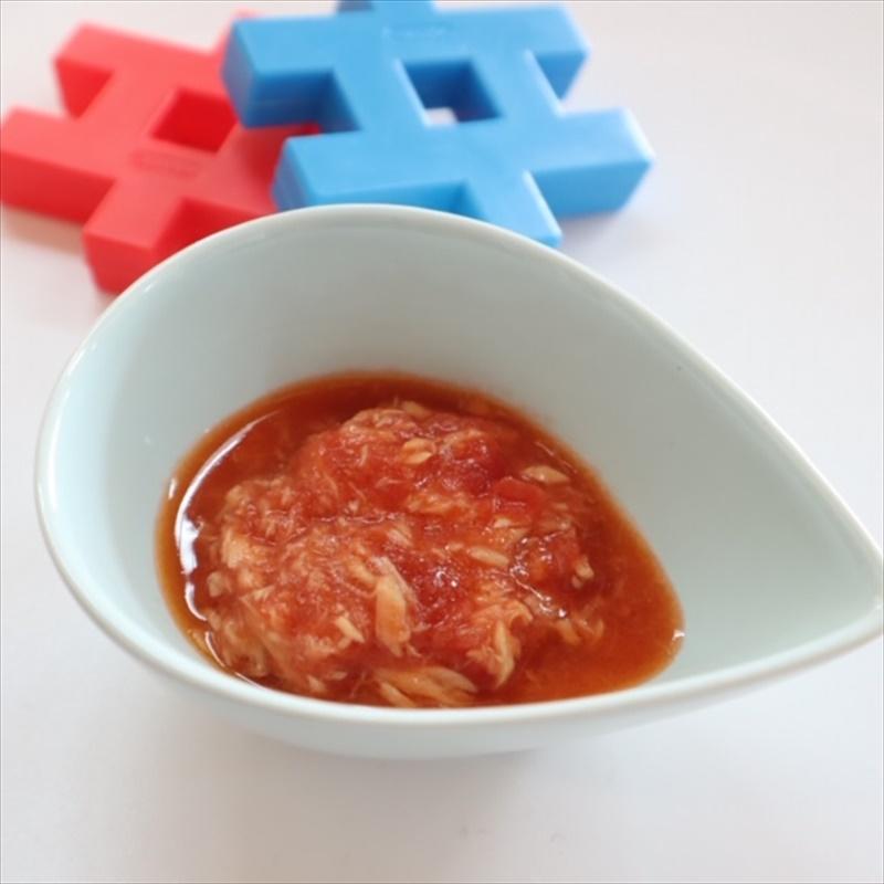 【離乳食中期】ツナトマト