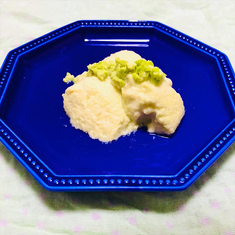 【離乳食中期】枝豆ミルクプリン