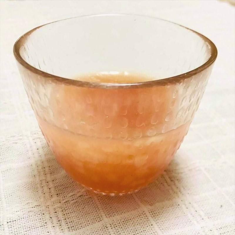 【離乳食中期】ベビーフード『トマトとりんご』と片栗粉で作るゼリー